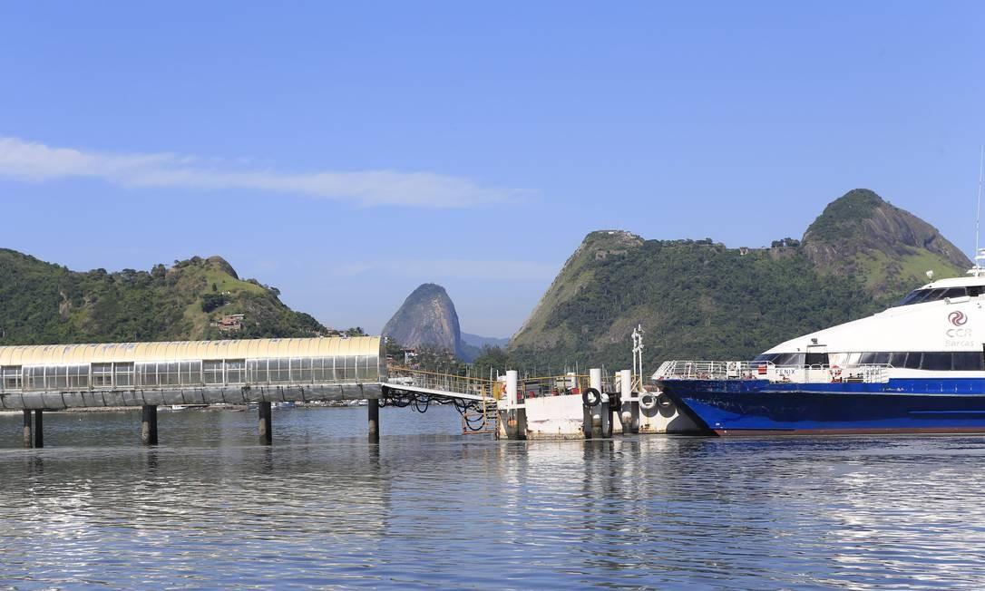 Valor da tarifa de Charitas até a Praça Quinze é o mais alto do transporte aquaviário estadual Foto: Roberto Moreyra / Agência O Globo