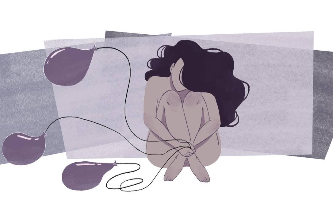 O desejo da mulher pode ser espontâneo ou responsivo, mas até 20% delas não sente nenhum Foto: Arte de Nina Millen