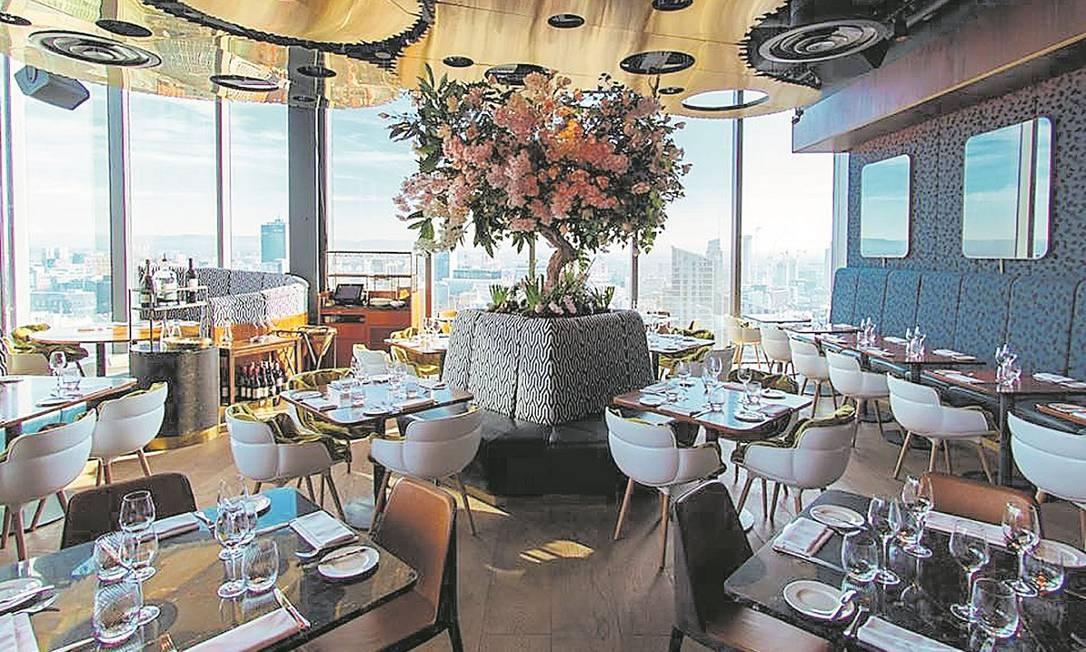 Salão do 20 Stories, um dos mais inventivos restaurantes de Manchester Foto: Divulgação