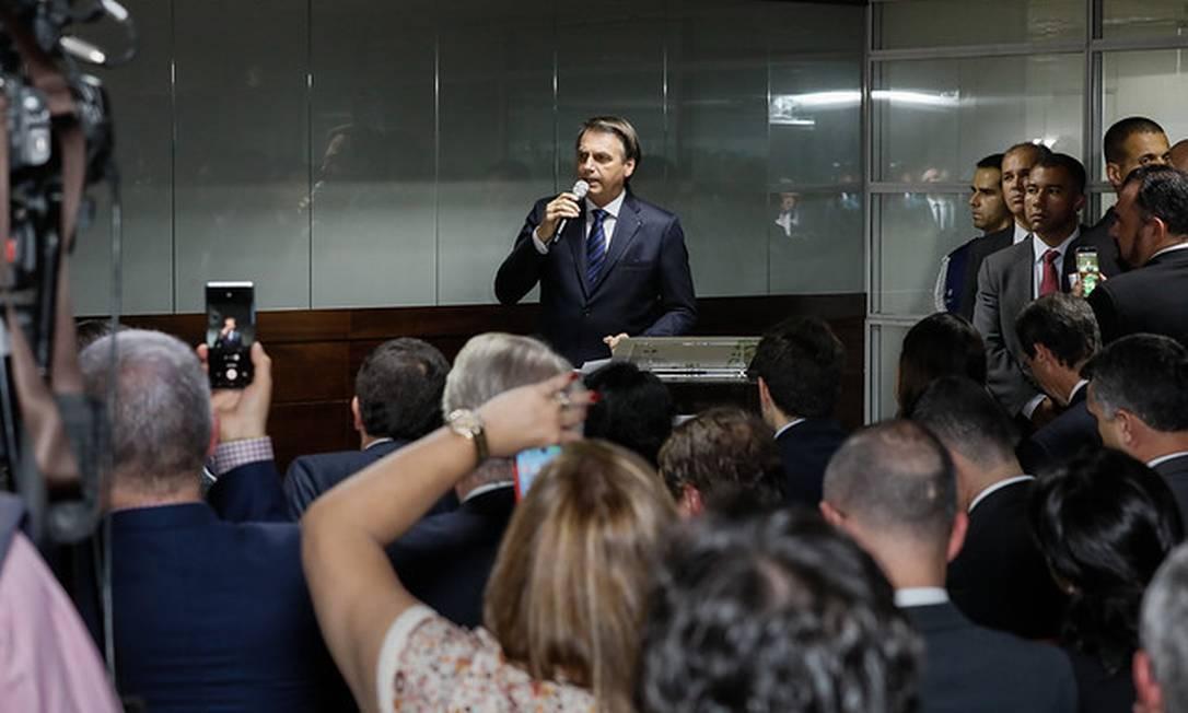 (Brasília - DF, 29/05/2019) Palavras do Presidente da República Jair Bolsonaro.\rFoto: Isac Nóbrega/PR Foto: Divulgação