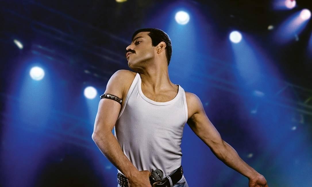 """O ator Rami Malek como Freedie Mercury no filme """"Bohemian Rhapsody"""" Foto: Divulgação"""