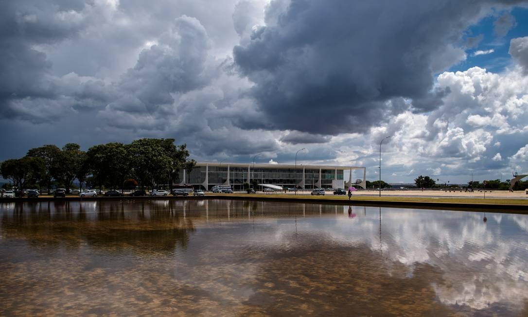 Nuvens sobre o Palácio do Planalto, em Brasilia 25/01/2019 Foto: Daniel Marenco / Agência O Globo