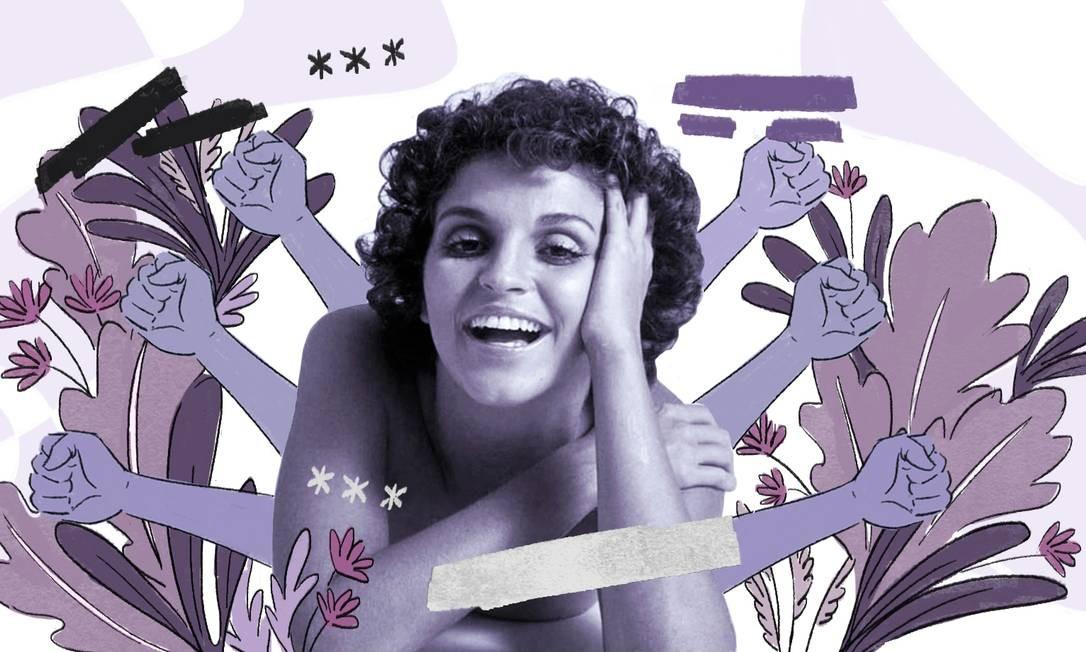 Leila Diniz virou símbolo da liberdade feminina e de um novo comportamento sexual Foto: Arte de Nina Millen sobre reprodução