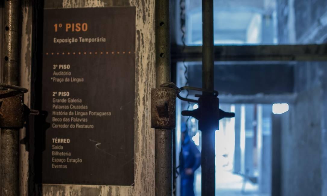 Reforma do Museu da Lingua Portuguesa depois do incêndio de 2015 Foto: Edilson Dantas / Agência O Globo
