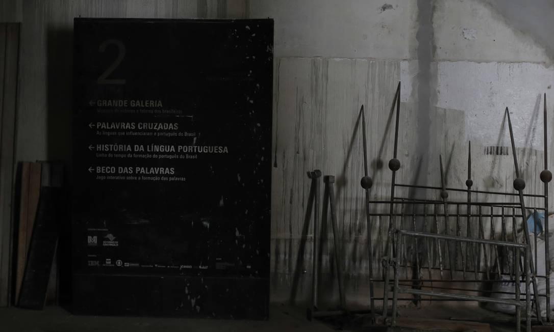 Reforma do Museu da Língua Portuguesa depois do incêndio de 2015 Foto: Edilson Dantas / Agência O Globo