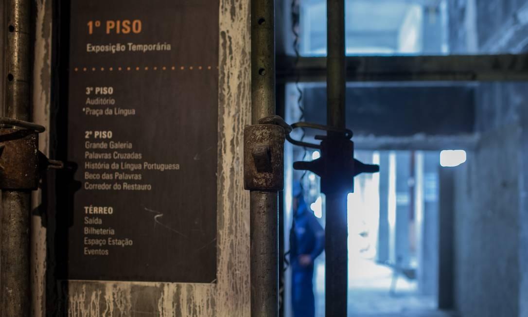 SC São Paulo ( SP ) 22/01/2019 Reforma do Museu da Lingua Portuguesa depois do incendio de 2015. Foto: Edilson Dantas / Agencia O Globo Foto: Edilson Dantas / Agência O Globo