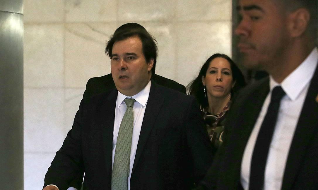 O presidente da Câmara dos Deputados, Rodrigo Maia, durante sessão solene na Casa Foto: Jorge William 29-05-2019 / Agência O Globo