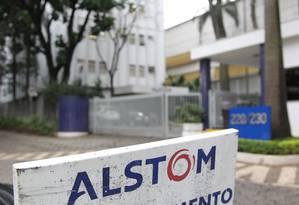 Fachada da sede da Alstom no Brasil, em 2014 Foto: Marcos Alves / Agência O Globo