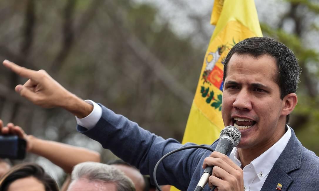 Autodeclarado presidente interino da Venezuela, Juan Guaidó Foto: YURI CORTEZ / AFP