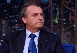 Bolsonaro falou sobre reforma, relação com congresso, reeleição e ataque Foto: Reprodução TV