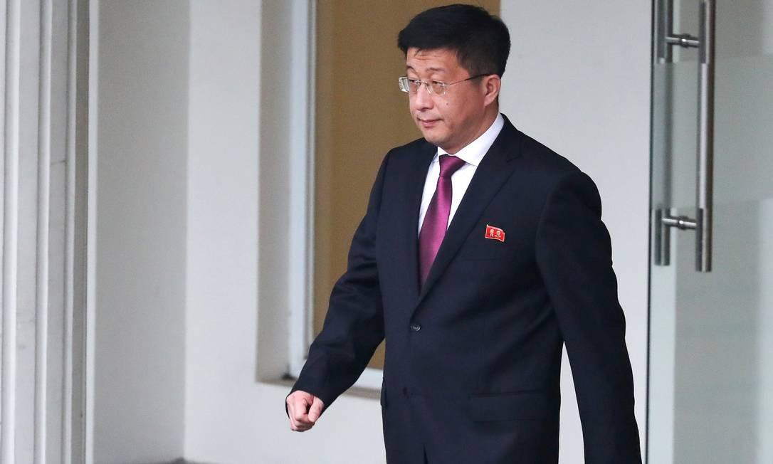 Kim Hyok-chol, representante especial da Coreia do Norte para as negociações com os EUA. Jornal sul-coreano afirma que ele foi executado em março, pouco depois do encontro de cúpula entre Kim Jong-un e Donald Trump, em Hanói, em fevereiro. Foto: Athit Perawongmetha / REUTERS