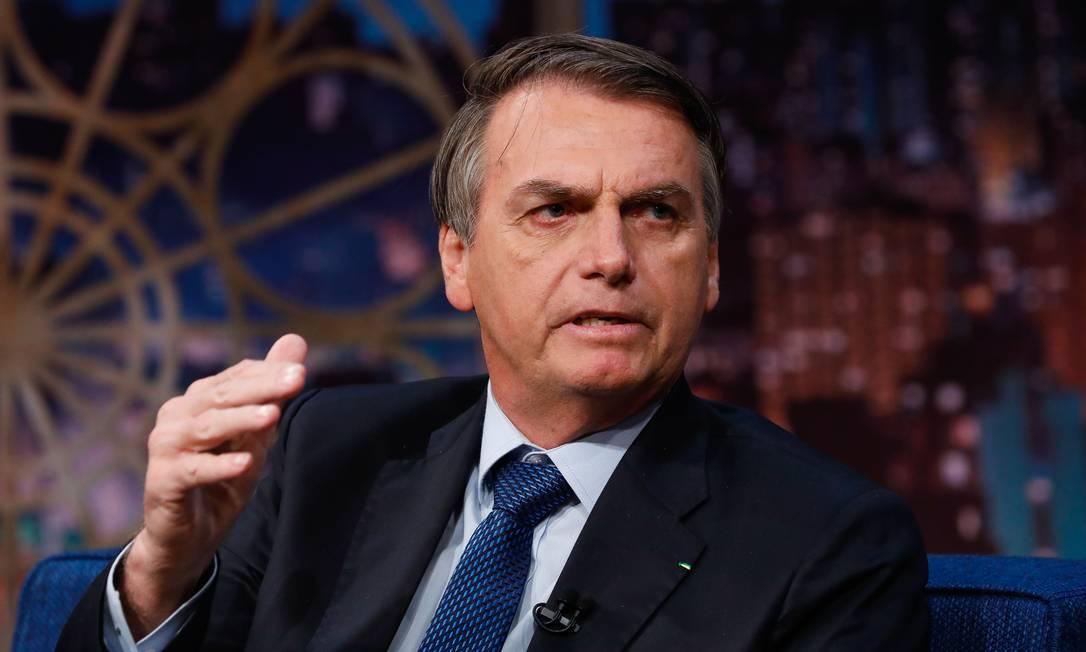 O presidente Jair Bolsonaro em entrevista apresentador Danilo Gentili, do SBT Foto: Alan Santos/Presidência da República