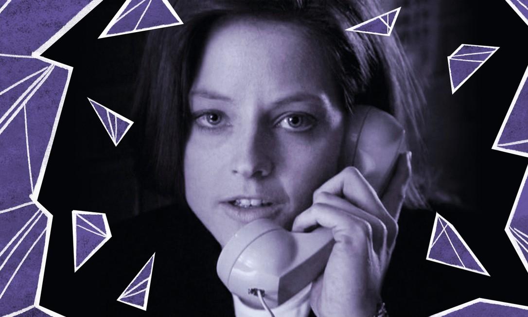 Jodie Foster em 'O silêncio dos inocentes', pelo qual levou Oscar de melhor atriz interpretando uma agente do FBI Foto: Arte de Ninna Millen sobre foto de divulgação