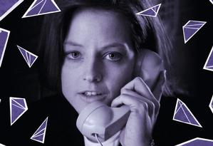 Jodie Foster em 'O silêncio dos inocentes', pelo qual levou Oscar de melhor atriz interpretando uma agente do FBI Foto: Arte sobre foto de divulgação