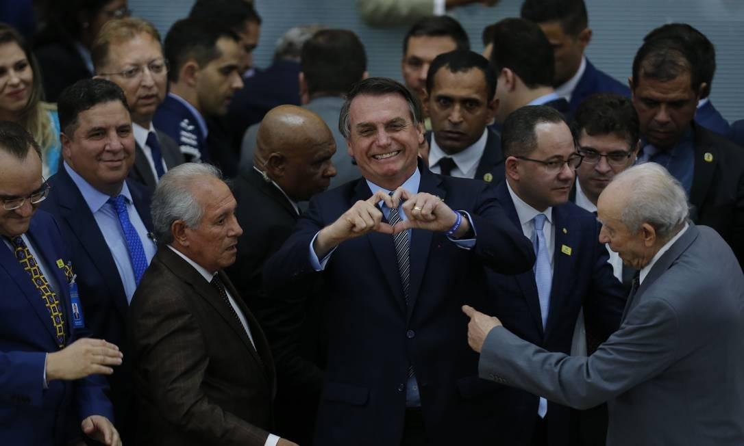 BSB -Goiânia - GO - Brasil - 31/05/2019 - Presidente Jair Bolsonaro participa de encontro de missionários da Assembléia de Deus de Madureira em Campinas-GO. Foto: Jorge William / Agência O Globo Foto: Jorge William / Agência O Globo