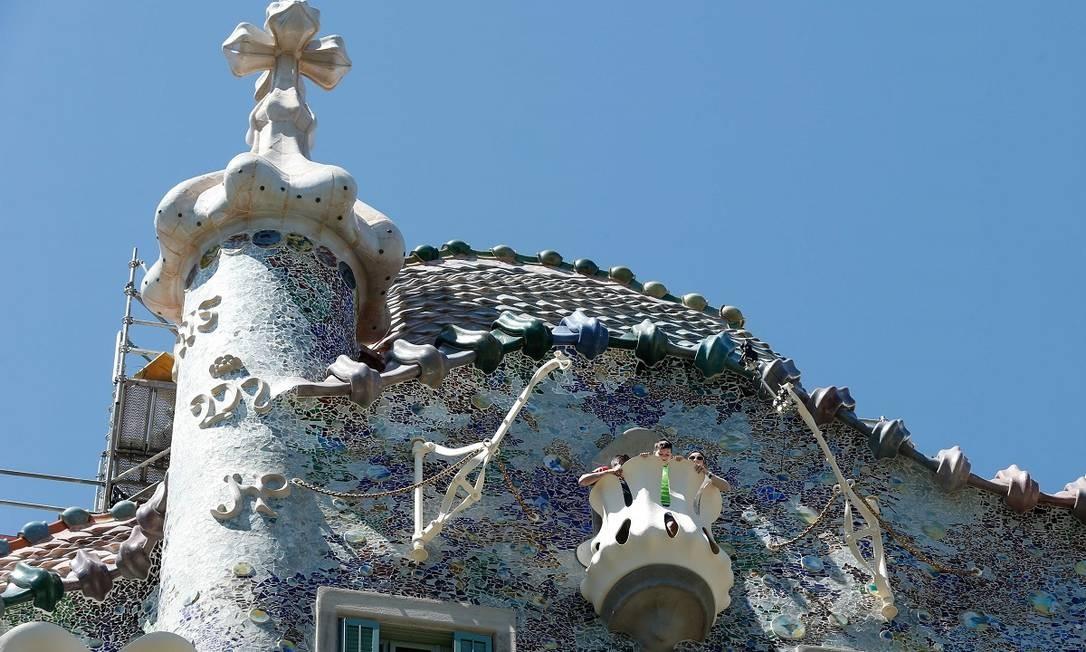 Profissionais de sete áreas trabalharam na reforma, já que a fachada é composta por cinco materiais diferentes (pedra, ferro, cerâmica, vidro e madeira) Foto: PAU BARRENA / AFP