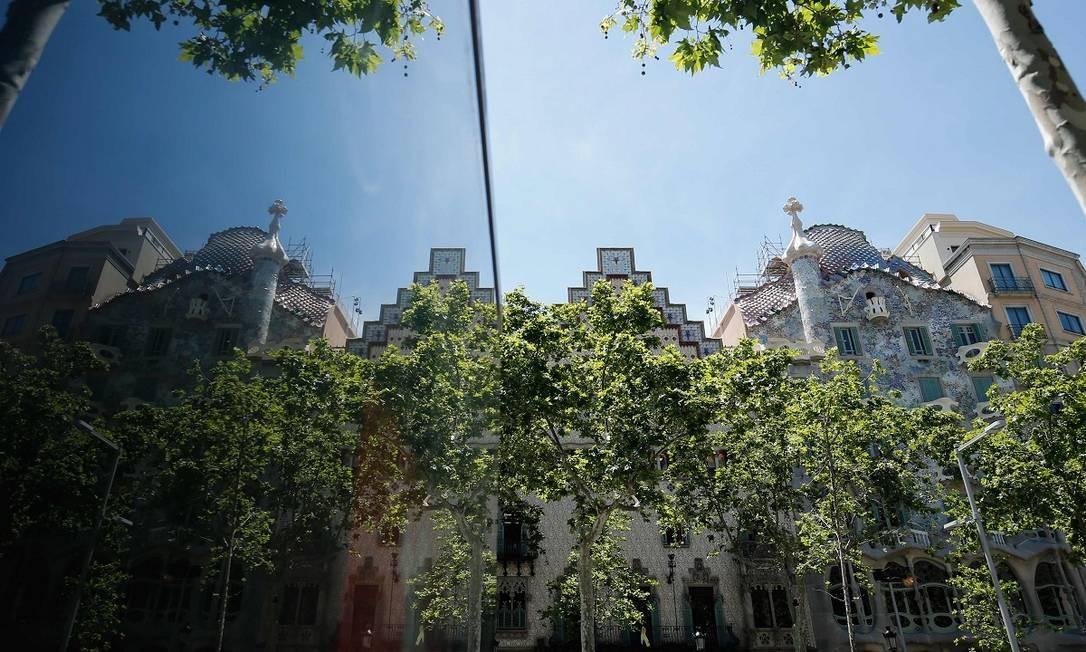 A última vez que a fachada da Casa Batlló havia sido reformada foi em 2010 Foto: PAU BARRENA / AFP
