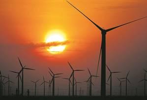 Energia eólica Foto: Carlos Barria/Reuters