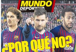 Por que não, pergunta o 'Mundo Deportivo' Foto: Reprodução