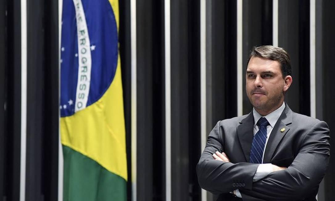 O senador Flávio Bolsonaro em 14/03/2019 Foto: Jefferson Rudy/ Agência Senado