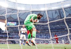 Soccer Football - Champions League Final - Tottenham Hotspur v Liverpool - Wanda Metropolitano, Madrid, Spain - June 1, 2019 Liverpool's Alisson in action REUTERS/Kai Pfaffenbach Foto: KAI PFAFFENBACH / REUTERS