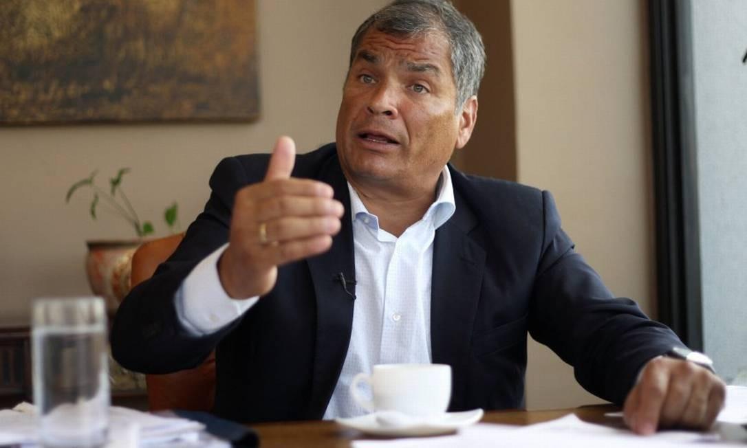 Ecuador's former President Rafael Correa talks to Reuters, in Quito, Ecuador January 30, 2018. Picture taken January 30, 2018. REUTERS/Daniel Tapia NO RESALES. NO ARCHIVES. Foto: Daniel Tapia / Reuters