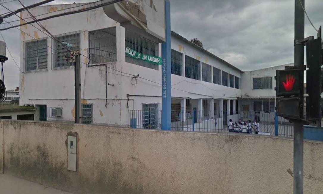 Escola Municipal Sócrates Galvêas Foto: Reprodução / Reprodução