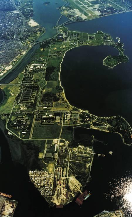 Ilha do Fundão, onde fica a UFRJ, foi criada a partir da aplicação de aterro a um arquipélago de oito ilhas durante a construção do campus entre 1949 e 1952 Foto: Divulgação