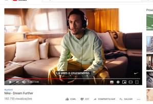 Neymar participa de comercial da Nike Foto: Reprodução