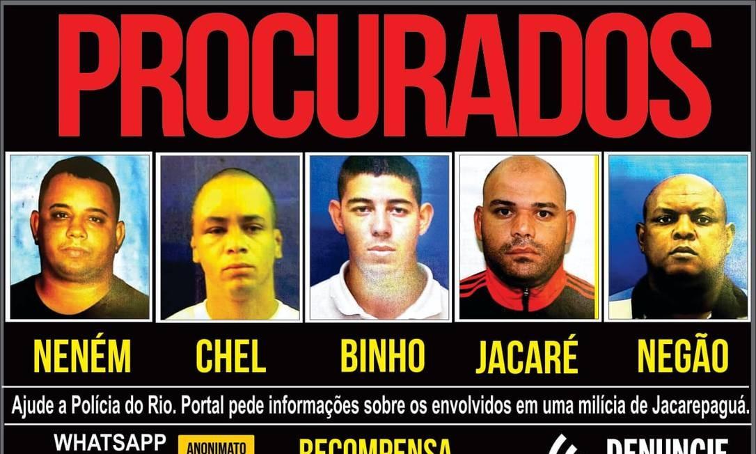 Todos tiveram as prisões decretadas pela Justiça Foto: Reprodução