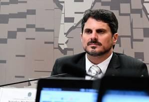O senador Marcos do Val (PPS-ES), que defendeu em parecer a manutenção do decreto das armas Foto: Agência Senado