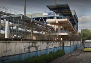 A estação Olinda, onde estava o trem no momento dos disparos Foto: Google Street View / Reprodução