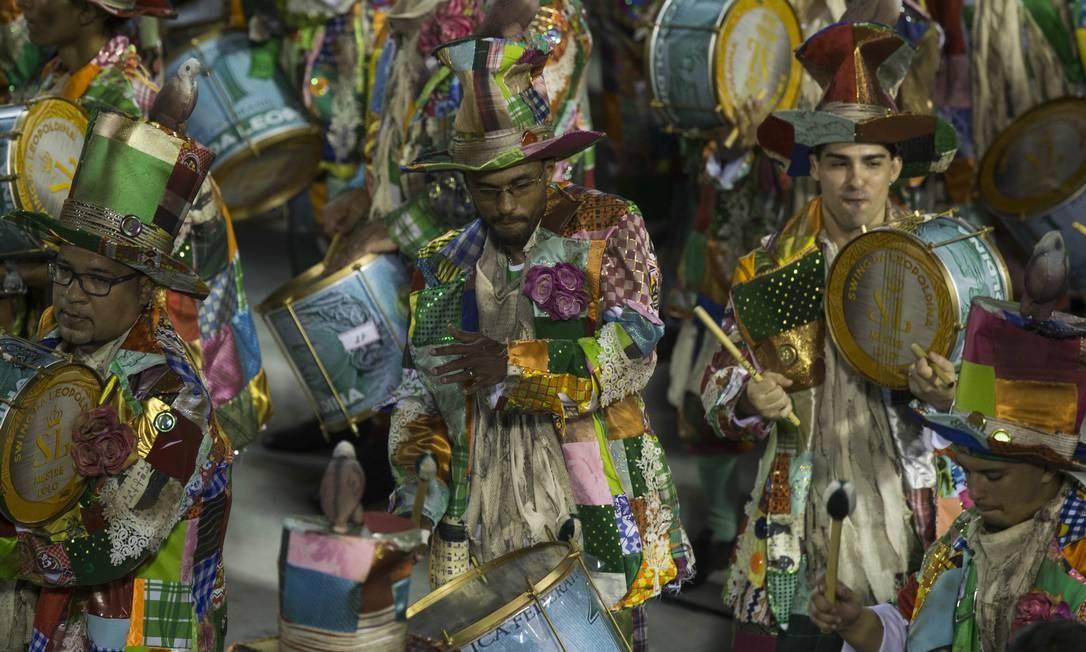 Bateria da escola de samba Imperatriz Leopoldinense Foto: Guito Moreto / Agência O Globo
