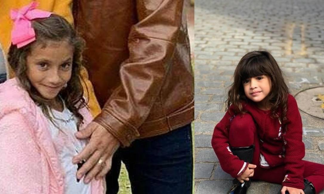 Isadora Bringel, de 7 anos, e Khálida Trabussi Lisboa, de 3, brincavam na neve quando foram atingidas por uma rocha, em área da Cordilheira dos Andes, no Chile. Local deveria estar fechado para turistas Foto: Reprodução