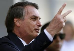 O presidente Jair Bolsonaro visita o Ministério da Marinha, em Brasília Foto: Jorge William / Agência O Globo
