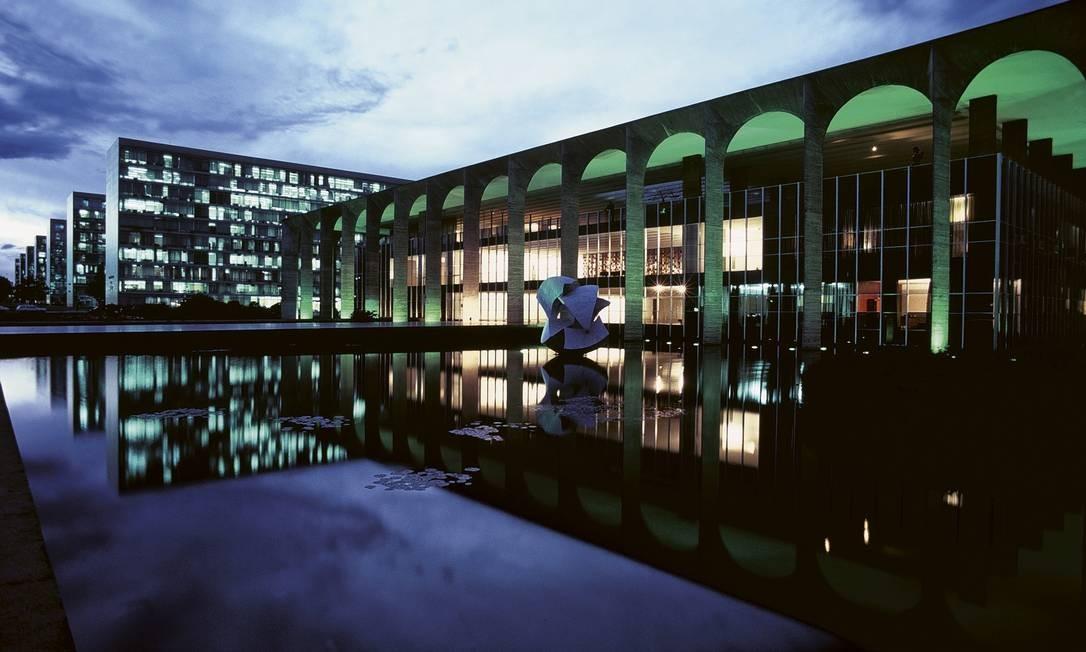 Palácio do Itamaraty, em Brasília Foto: Mario De Biasi / Mondadori via Getty Images