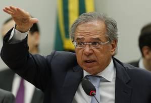 Reunião Ordinária de Comparecimento de Ministro de Estado - Na foto, o ministro da Economia, Paulo Guedes Foto: Jorge William / Agência O Globo