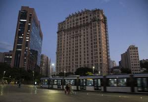 Antes do surgimento de edifícios altos ao longo da Avenida Rio Branco,
