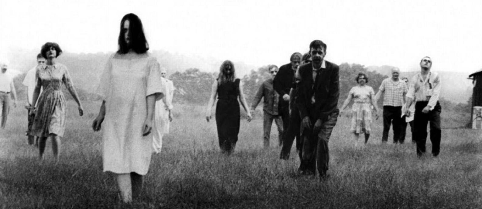 Cena de 'A noite dos mortos-vivos', de George Romero, clássico dos filmes de zumbis Foto: Reprodução