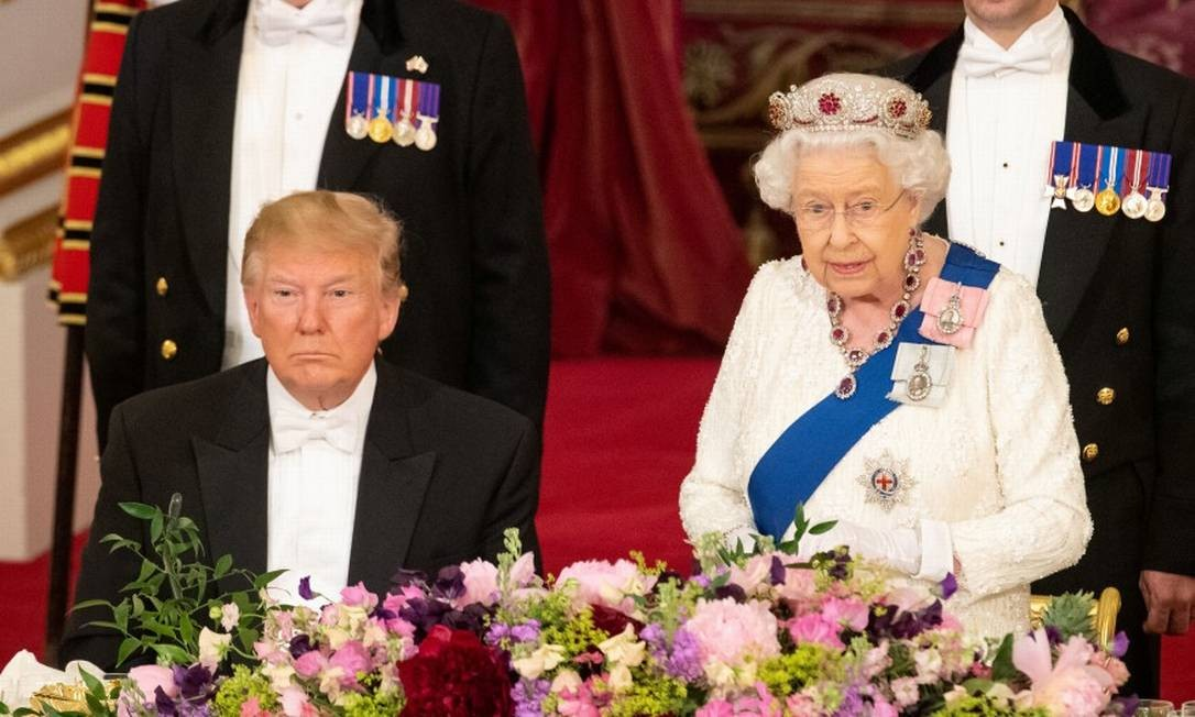 Donald Trump e Elizabeth II Foto: POOL / REUTERS