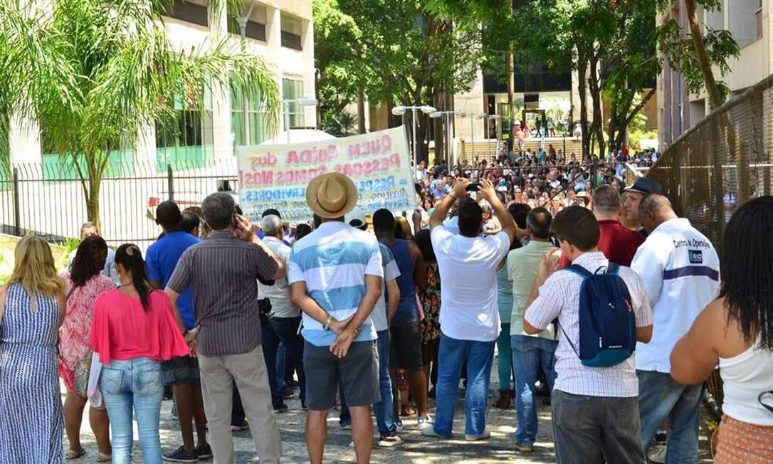 Protesto de servidores municipais em Belo Horizonte