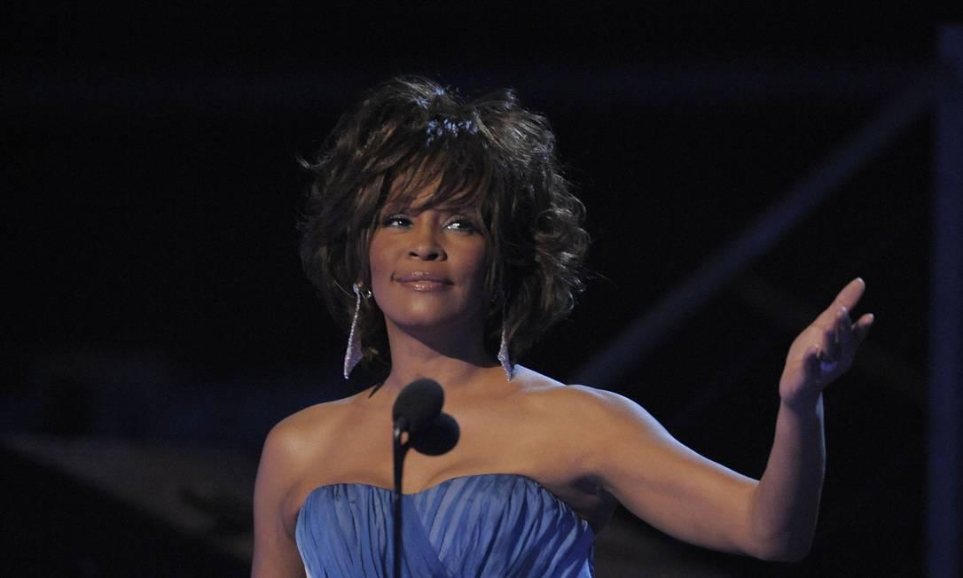 A cantora Whitney Houston no Grammy Awards, em fevereiro de 2009 Foto: Mark J. Terrill / AP Photo