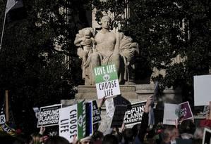 Grupos anti-aborto fazem protesto em Washington Foto: GABRIELLA DEMCZUK / NYT
