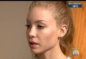 Acusadora declarou que foi agredida e estuprada Foto: Reprodução SBT