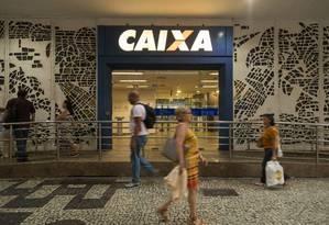 Agência da Caixa: mudanças nos financiamentos. Foto: Gabriel Monteiro / Agência O Globo