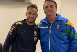 Bolsonaro visita Neymar Foto: Reprodução