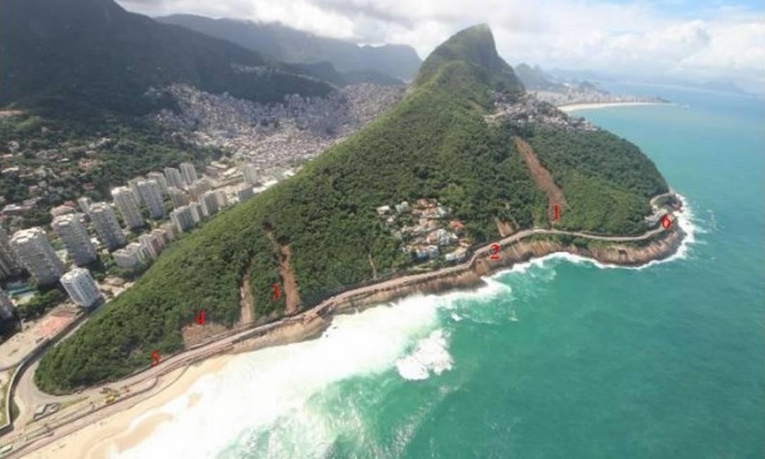 A Justiça decidiu no dia 6 de junho, manter fechada a Avenida Niemeyer, interditada desde o último dia 28 de abril, após pedido do Ministério Público ter sido parcialmente aceito pelo TJ Foto: Mário Moscatelli