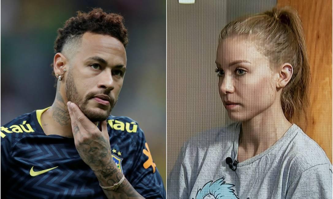 Neymar e Najila Foto: REUTERS e Reprodução SBT