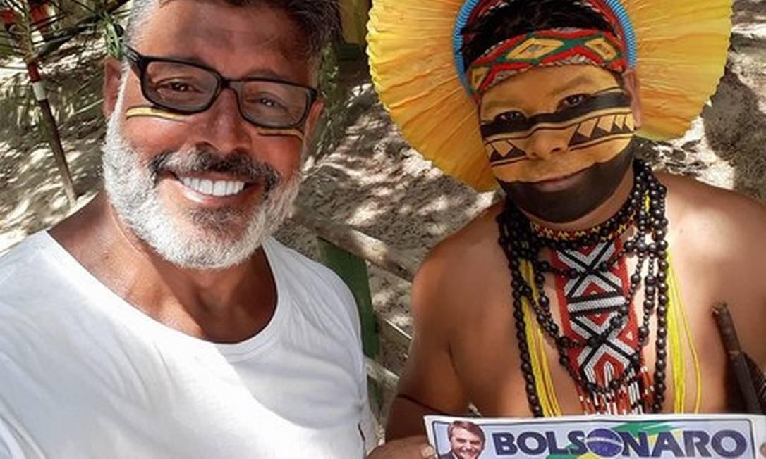 Integrantes da aldeia Pataxó da Jaqueira acusaram Frota de enganar índio Foto: Reprodução