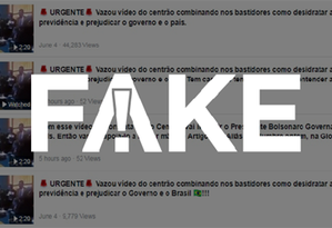 É #FAKE que vídeo mostre Centrão tentando derrubar reforma da Previdência de Bolsonaro Foto: Reprodução